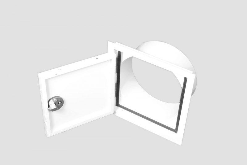 White Flushmount Laundry Chute door